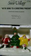 Dept 56 Snow Village Accessories We're Going To A Christmas Pageant Retired 1994