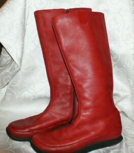 Merrell Pepper Red Performance Boots Leather Tall Size 7