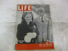 Life Magazine April 7th 1947 Sunday School Pupils Cover Published By Time  mg205