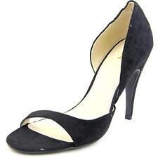 Zapatos de tacón de mujer de color principal negro de lona Talla 36.5