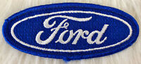 VTG 70s FORD Motors Embroidered Patch Iron On Auto Mechanic Uniform Automotive