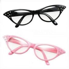 51bc534472 Women s Girls 50s 60s Rock Roll Retro Grease Glasses Fancy Dress.