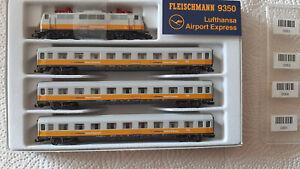 Fleischmann 9350 Spur N 4 tlg. Zugset Lufthansa Airport Express - Br 111