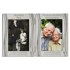 Platinum 70th Wedding Anniversary Double Photo Frame 4 x 6 Inch