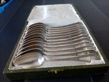 Ancienne serie petites cuillères métal argenté poinçon boulenger en ecrin