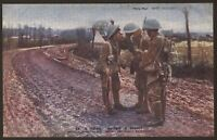 """A """"Fag"""" After A Fight - WW1 Daily Mail War Pictures Postcard"""