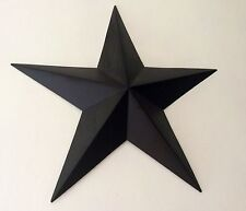 Primitive Tin Barn Star  Black 5""
