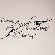 Guardian Angel Pure and Bright Guard Me While I Sleep Tonight Decal Sticker