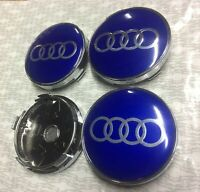 SILVER BLUE 2019 Audi Alloy Wheel Centre Caps 60mm 4B0601170 1 2 3 4 5 6 7 RS