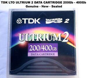 TDK LTO ULTRIUM 2 DATA CARTRIDGE D2405-LTO2  200Gb - 400Gb GENUINE NEW SEALED