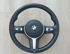 BMW X5 F15 X6 F16 F30 F31 F20 M Sport SCHWARZ Lenkradstich OEM  good