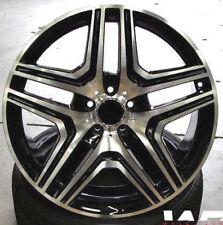 "22"" Black Machined Wheels For Mercedes G500 G550 G600 G55 G63 22X10 Rims Set (4)"