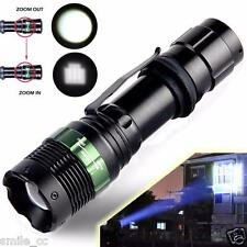 5000 Lumen Zoomable Cree XML T6 LED 18650 Flashlight Focus Torch Zoom Lamp Light