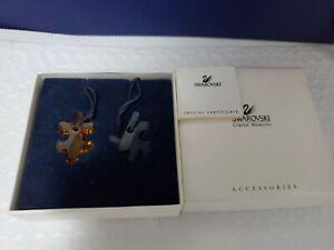 Vintage Swarovski Blue & Orange Puzzle Necklace #266515 NOT MINT original box