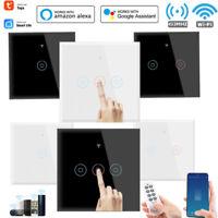 1/2/3/4 Gang TUYA Smart Home WiFi Touch Light Wall Switch for Alexa Google Home*
