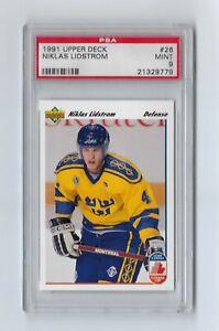 1991 Upper Deck Niklas Lidstrom #26 Rookie HOF PSA 9