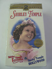SHIRLEY TEMPLE 2 PACK VHS TAPES, FESTIVAL & HOLLYWOOD COLLECTOR SERIES New