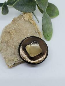 Vintage Glass Darkened Bronze Metallic Glass Cab Cabochon DIY Crafts Jewelry