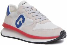 Guess Fm5Runfab1 Lace Up Guess Logo Wedge Sole Trainer Off White Size UK 6 - 12
