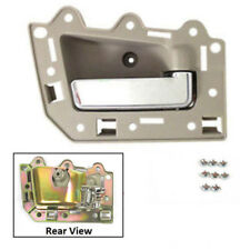 MotorKing Front Right Inner Door Handle For 2005-2011 Jeep Tan Beige Chrome Bolt