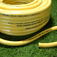19mm x 100 Metres Yellow Garden Hose Pipe Reinforced Roll Coil Water Hosepipe