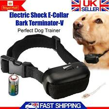 Anti Bark Electric Dog Collar For Pet Trainer Control Shock Stop Barking UK