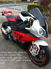 BLACK & RED CUSTOM FITS BMW S1000RR 12-14 FRONT BIKE SEAT COVER ONLY