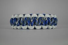 550 Paracord Survival Bracelet Cobra White/Blue Camo Camping Military Tactical