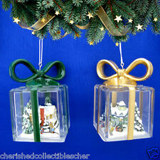 Thomas Kinkade Ornaments Together for the Holidays & The Gift of Love Coa
