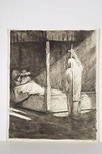 Dessin Encre Apparition Fantôme de Chevalier, Fantastique style Edy Legrand ?