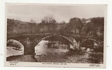 Old Roman Bridge Mitton 1935 RP Postcard  199a