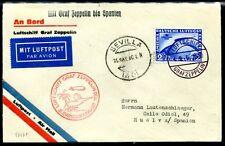 DR 1930 438 LUSSO lettera Zeppelin viaggio Spagna 500 € + + (z7045b