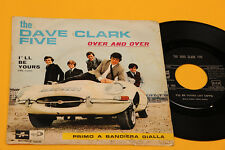 """DAVE CLARK FIVE 7"""" OVER AND OVER 1°ST ORIG ITALY 1966 JAGUAR COVER"""