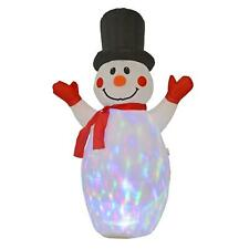 Pre-Lit Inflatable Snowman Family Flashing 195 cm