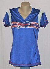 Buffalo Bills Womens Primary Logo Jersey T-Shirt Blue LRG - NFL