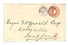 KK230 1893 Australian States VICTORIA *Ballarat* Postal Stationery Envelope