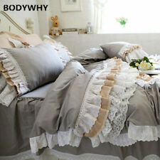 2020 Top luxury bedding set lotus leaf duvet cover lace bed skirt European style