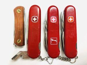 """Dog leg can opener"", ""Golfer"", ""EKA"" & ""Mechanic"". 4 rare Wenger collection."