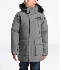 New $250 The North Face Boys McMurdo Grey Down Parka Jacket, Size S (7-8)