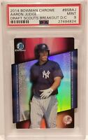 2014 Bowman Chrome #BSBAJ Aaron Judge DS Refractor PSA Mint 9