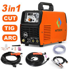 HITBOX 3in1 Welding Machine 50A Air Plasma Cutter 200A TIG/Stick/MMA/ARC Welder