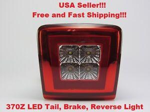 For 2009 2010 2011 2012 Nissan 370Z LED 4th Tail Brake Reverse Backup Fog Lamp