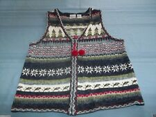 Carolina Colours Christmas Trees / Candy Canes Sweater Vest Size M cute ugly