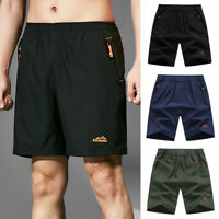 Men Summer Beach Shorts Athletic Fitness Gym Sports Training Swimwear Pants LC