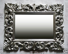 Wandspiegel ANTIK ROKOKO 90X70 Barock in  SILBER Florenza UVP 499€ Spiegel WOE