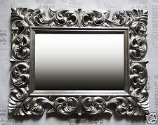 Miroir mural ancien Rokoko 90x70 baroque en argent Florenza Miroir Woe