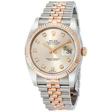 Rolex Datejust 36 Silver Dial Stainless Steel and 18K Everose Gold Rolex