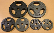 """Cast Iron 1"""" Standard Weight Plates 5, 10, & 25 lb Pairs (Choose Color & Size)"""
