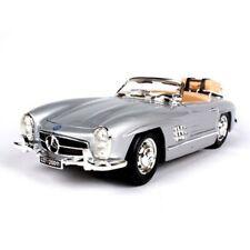 Burago 1/18 1957 Mercedes-Benz 300SL Touring Vintage Car Model Boys Gift Silver