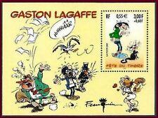 2001 FRANCE BLOC N°34** GASTON LAGAFFE BANDES DESSINEES FETE DU TIMBRE LUXE MNH